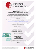 certificadio ASC Macfont iberland